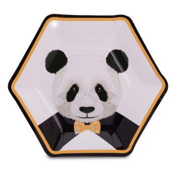 8 Assiettes Panda d'amour