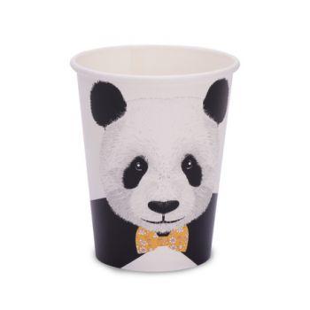8 gobelets carton Panda d'amour