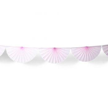 Guirlande d'éventails en papier rose