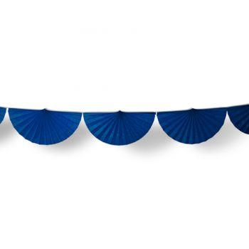 Guirlande d'éventails en papier bleu marine