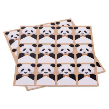 24 stickers Panda d'amour