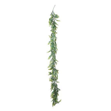 Guirlande de fougères vertes idéale pour la décoration de fête sur le thème des tropiques, de la jungle...Dimensions d'une feuille:...