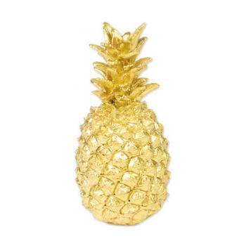Ananas décoratif doré
