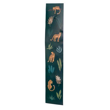 Assortiment de 56 stickers de feuillages et léopards idéal pour une décoration de fête d'anniversaire sur le thème de la jungle