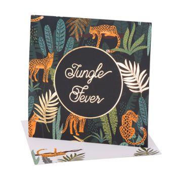 8 Invitations Jungle fever