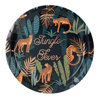 8 Assiettes Jungle fever