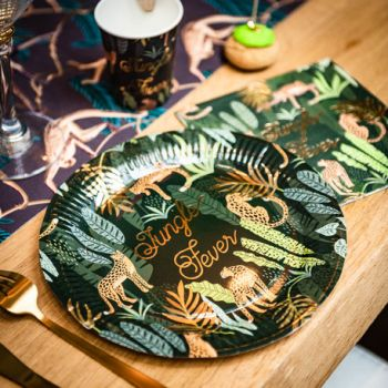 8 Assiettes Jungle fever