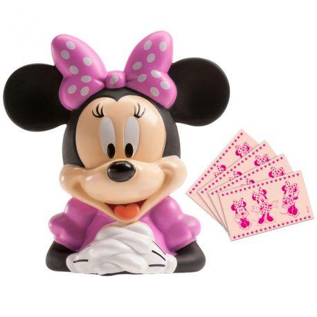 Superbe tirelire en forme de buste de Minnie livré avec des billets comestibles en azymeDimensions : 14cm x 14cm x H19.5cmPoids:...