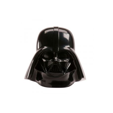 Superbe tirelire en forme de buste de Dark Vador de la saga Star Wars livré avec des billets comestibles en azymeDimensions : 15cm x...