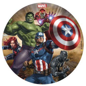 Disque azyme 16cm Avengers