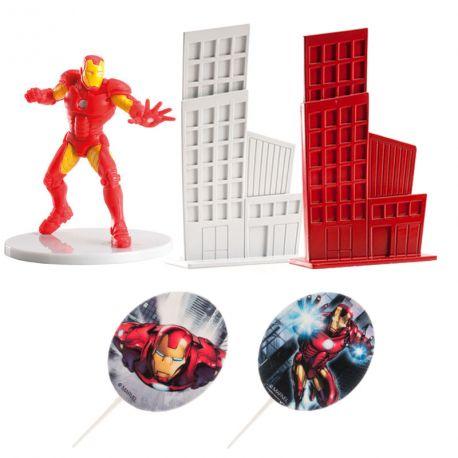 Kit de décoration en plastique pour décorer votre gâteau à l'effigie deIron man !Contient: 2 pics deco Avengers + 1 figurine...