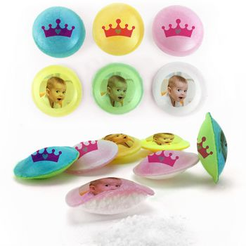Bonbons personnalisés soucoupes acides décor Princesse.