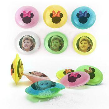 Bonbons personnalisés soucoupes acides décor Minnie.