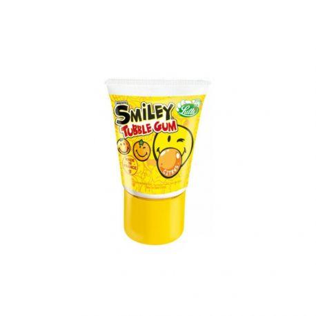 Tube de chewing gum à l'effigie de Smiley au goût tutti fruttiVendu à l'unité