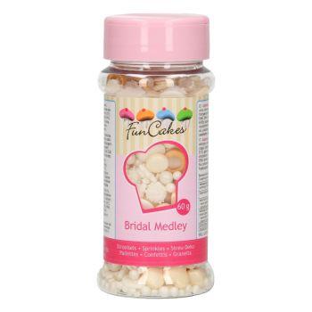 Mix confettis en sucre mariage Funcakes 60gr