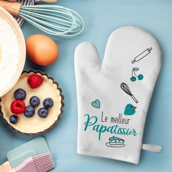 Gant de cuisine décor Papa Patissier