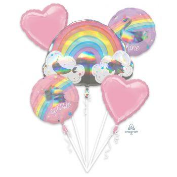 Bouquet ballons helium Magical rainbow