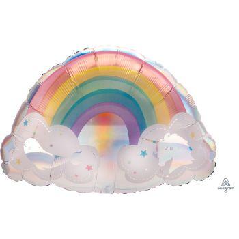Ballon helium géant Magical rainbow