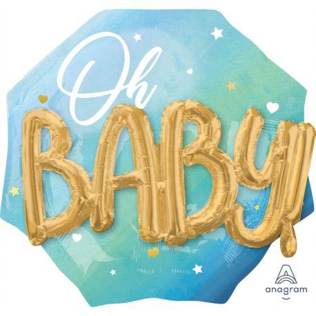 Superbe Multi ballon en aluminium Baby pink à gonfler à l'hélium idéal pour la décoration d'une baby showerLe Baby de couleur or est...