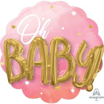 Multi ballon helium géant Baby pink