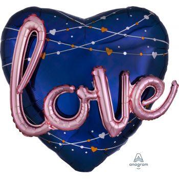 Multi ballon géant helium géant coeur love