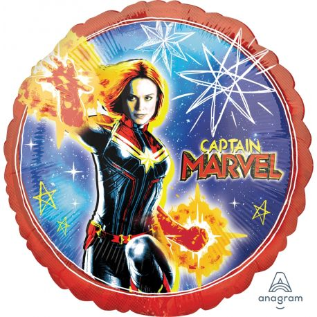 Superbe ballon en aluminium à l'effigie de Captain Marvel à gonfler à l'hélium idéal pour la décoration d'un anniversaire sur le thème...