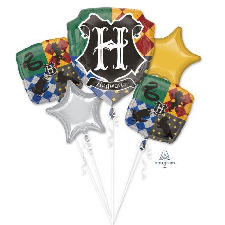 Superbe bouquet de ballons en aluminium à gonfler à l'hélium décor Harry Potter idéal pour la décoration d'une belle fête...