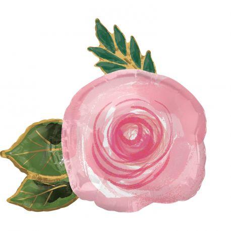 Ballon hélium géant en forme de rose pour une belle décoration de fête d'anniversaireTaille: 76cm x 73cmIl faut 0.052m3...