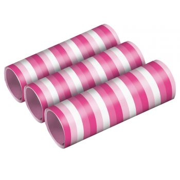 3 rouleaux serpentins rose