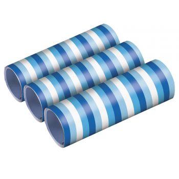 3 rouleaux serpentins bleu