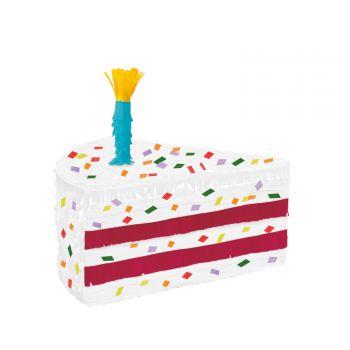 Pinata à casser part de gâteau