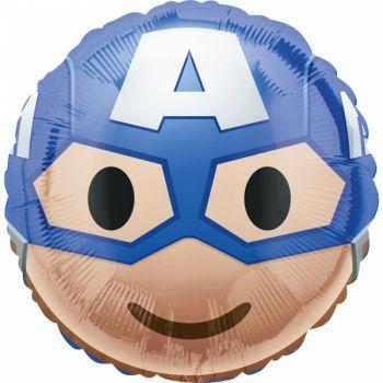 Ballon helium Captain America emoticon