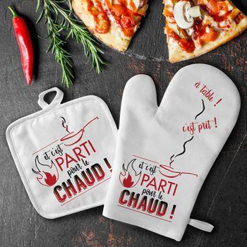 Set gant de cuisine C'est parti pour le chaud