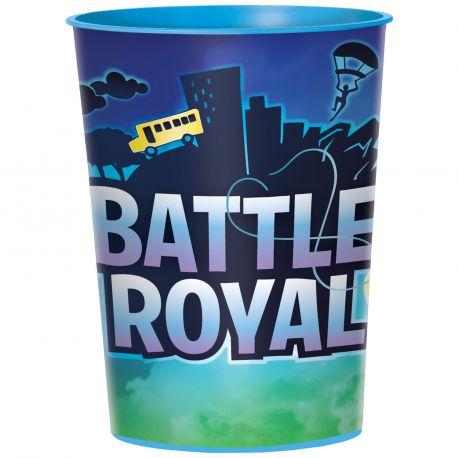 Gobelet en plastique rigide vendu à l'unité Battle Royal pour une belle décoration de table d'anniversaire sur le thème Fortnite