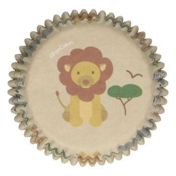 48 Caissettes Animaux de la jungle Funcakes