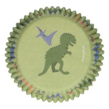 48 Caissettes Dinosaure Funcakes