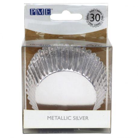 Boite de 48 Caissettes à cupcakes ou muffins en papier de la marque PME, elles sont adaptées à la cuisson, à utiliser avec moule 12...