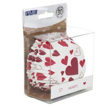 30 Caissettes alu coeur PME