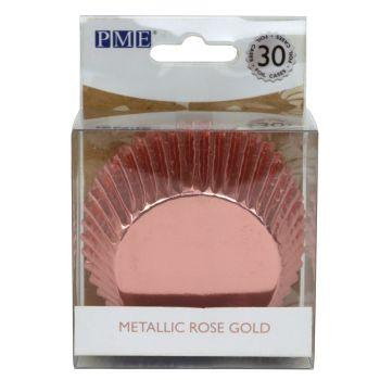 30 Caissettes alu gold rose PME