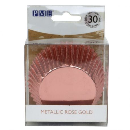 Boite de 48 Caissettes à cupcakes ou muffins en aluminium de la marque PME, elles sont adaptées à la cuisson, à utiliser avec moule 12...