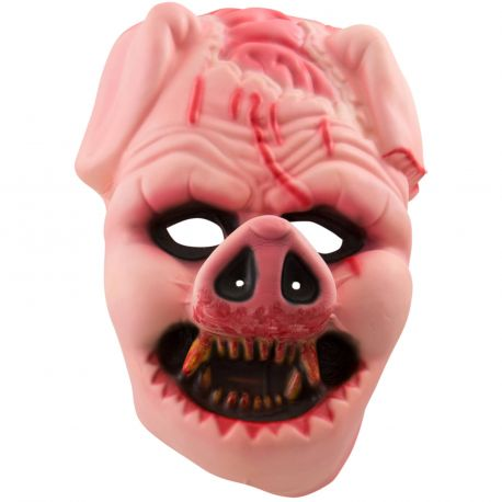 Superbe masque XXL en plastique en forme de visage de Cochon méchant idéal si vous ne désirez pas réaliser un maquillageDimensions...