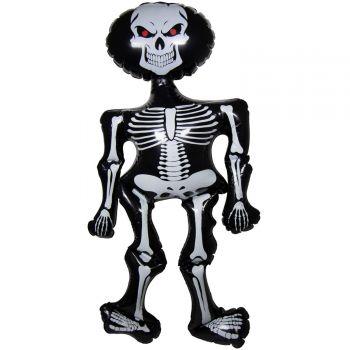 Squelette noir gonflable 78cm