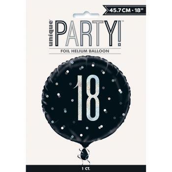 Ballon hélium 18 glitz black