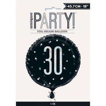 Ballon hélium 30 glitz black