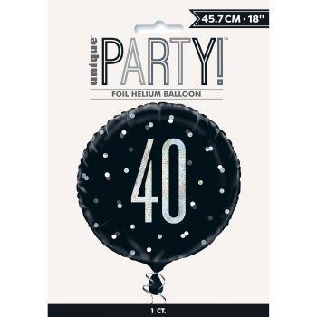 Ballon hélium 40 glitz black