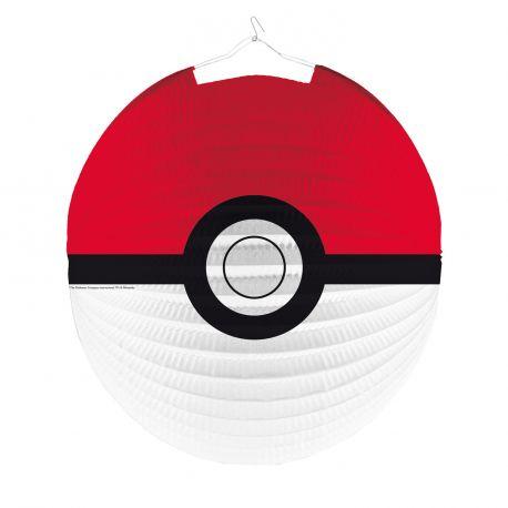 Lanterne en papier en forme de Pokemon ball pour réaliser une belle décoration de fête d'anniversaireDimensions: Ø25cm