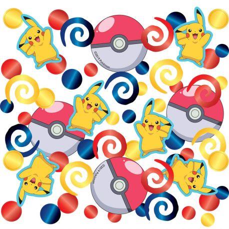 Confettis métallisés Pokemon pour réaliser une belle décoration de table de fête d'anniversaireDimensions: 14gr