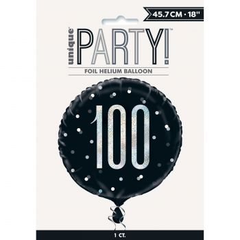 Ballon hélium 100 glitz black