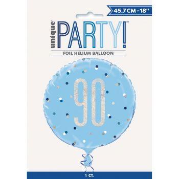 Ballon hélium 90 glitz bleu