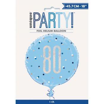 Ballon hélium 80 glitz bleu